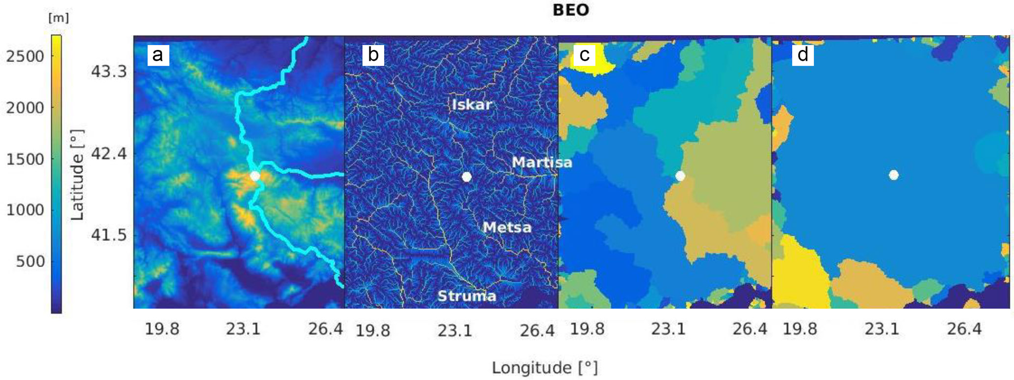ACP - Identification of topographic features influencing