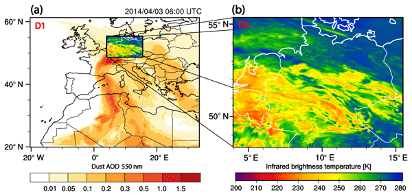 ACP - The impact of mineral dust on cloud formation during the