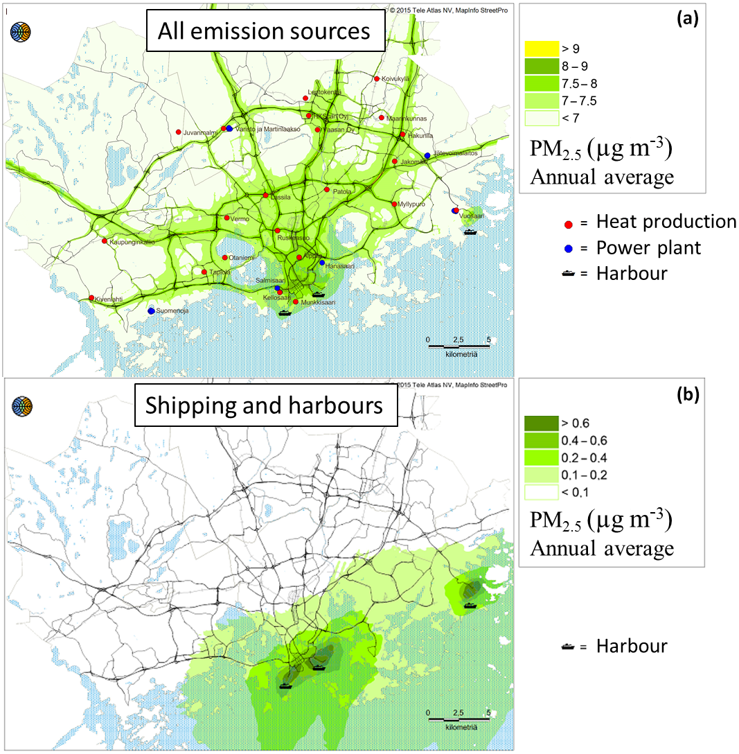 ACP - Modelling of the urban concentrations of PM2 5 on a