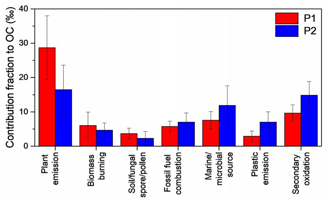 ACP - Molecular characteristics and diurnal variations of