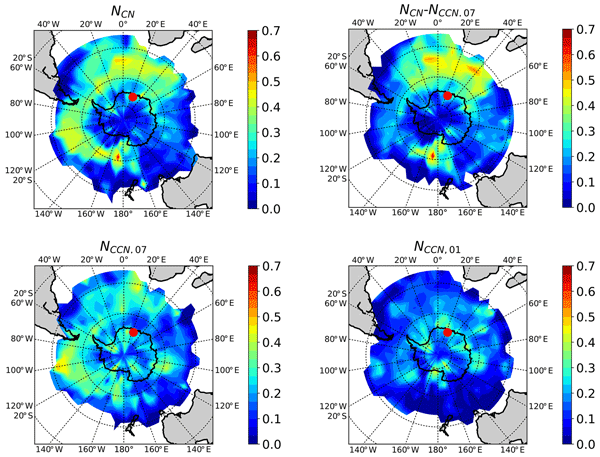 f36c9d1baf395c CCN measurements at the Princess Elisabeth Antarctica research station  during three austral summers