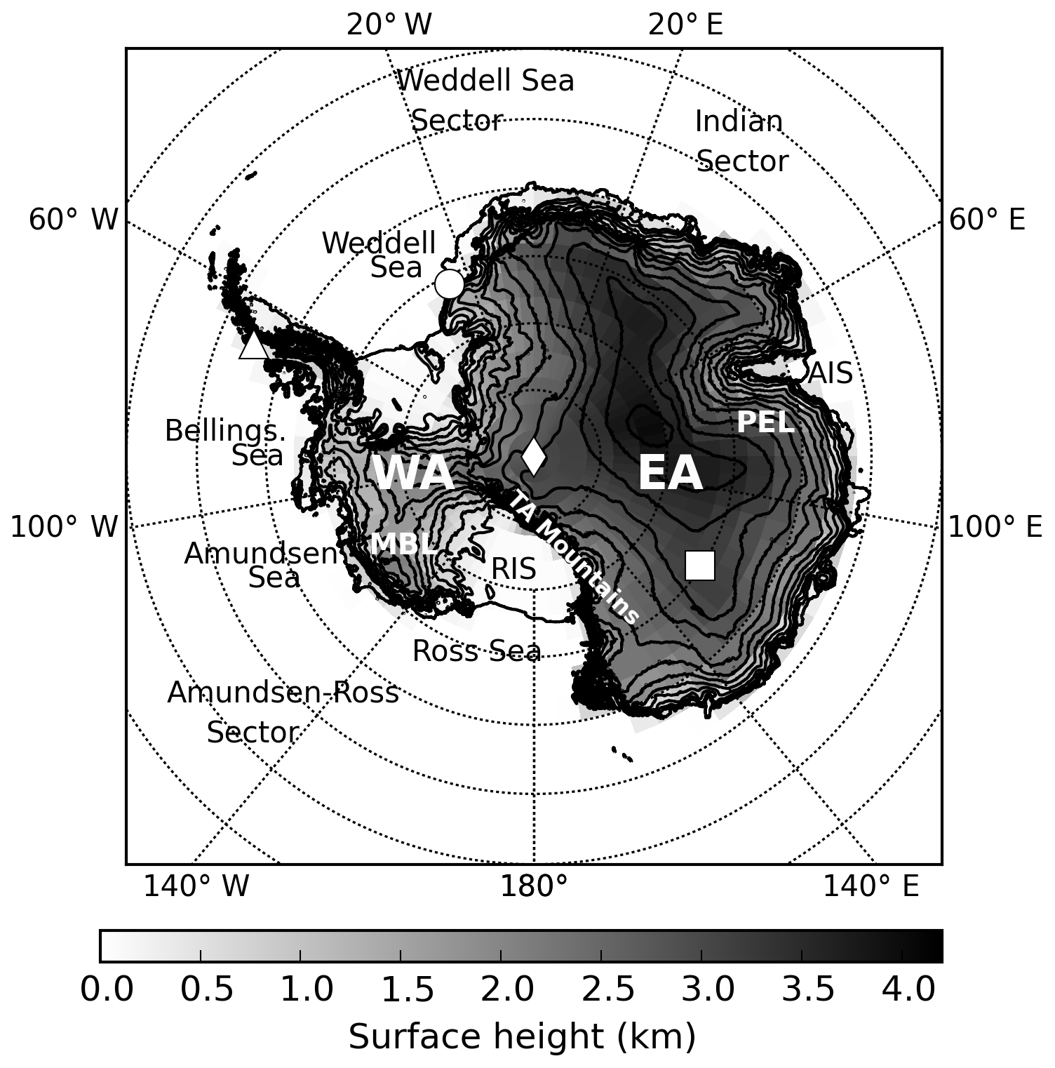 ACP - Antarctic clouds, supercooled liquid water and mixed phase