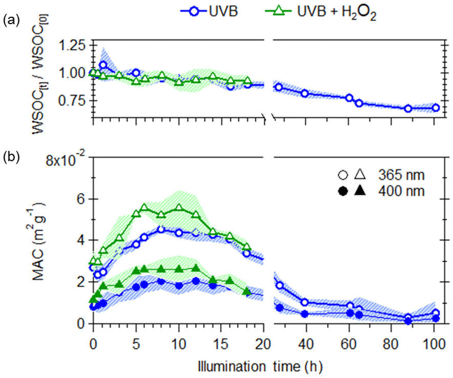 ACP - Atmospheric evolution of molecular-weight-separated